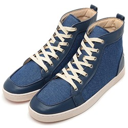 Shoespie Demin and Pu Men's Fashion Sneakers