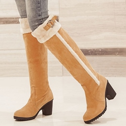 Shoespie Warm Furry Buckle Flat Snow Boots