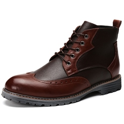 Shoespie Patchwork Men's Boots