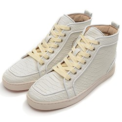 Shoespie White Embossed Men's Sneakers