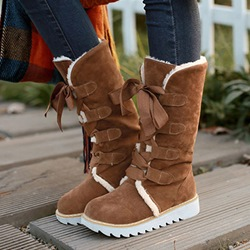 Sweety Candy Color Mid-Sharft Halter Snow Boots