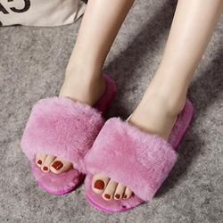 Shoespie Multi Color Fur Slippers