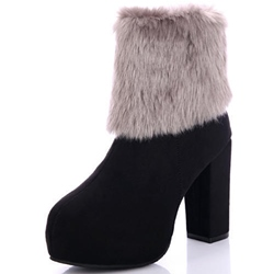 Shoespie Warm Nubuck Chunky Heel Fashion Boot