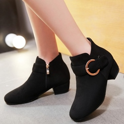 Shoespie Giant Buckle Flat Boots