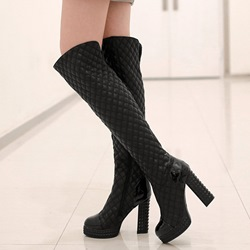 ShoespieChunky High Heel Knee High Boots