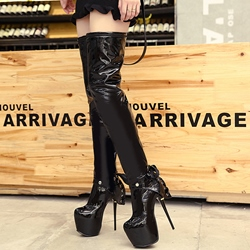 Shoespie Sexy Lace-Up Stiletto Heel Thigh High Boots