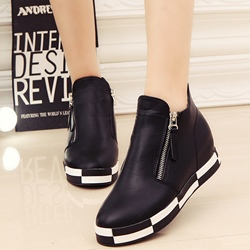 Shoespie Zippers Fashion Sneakers
