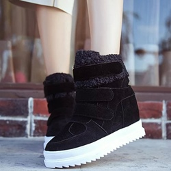 Shoespie Sporty Velcro Furry Snow Boots