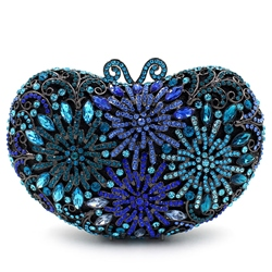 Shoespie Blue Banquet Rhinestone Clutch Bag