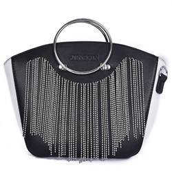 Shoespie Tassels Metal Hoop Handbag