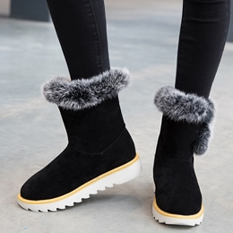 Shoespie Warm Shearling Lug Sole Snow Boots