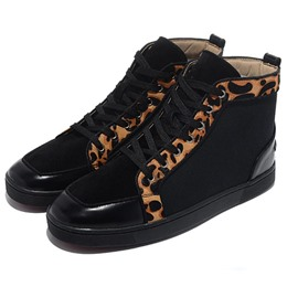 Shoespie Leopard Purfle Men's Shoes