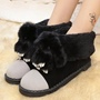 Shoespie Cute Jonestew Embellished Snow Boots