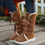 Shoespie Shearling Lace Up Snow Boots
