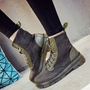 Shoespie Nubuck Patchwork Martin Boots
