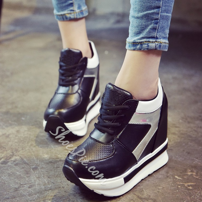 Shoespie Casual Color Block Sneakers