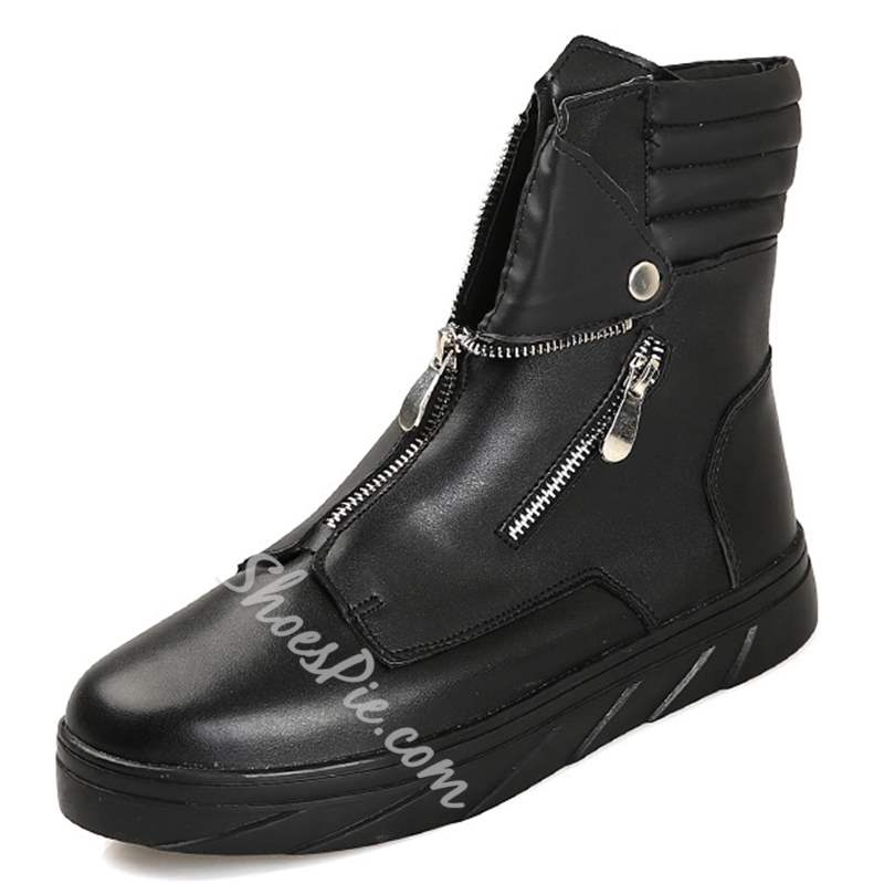 Shoespie Zippers Men's Boots
