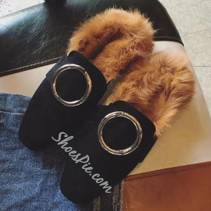 Shoespie Warm Furry Loafers