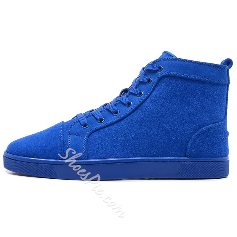 Shoespie Suede Blue Men's Sneakers