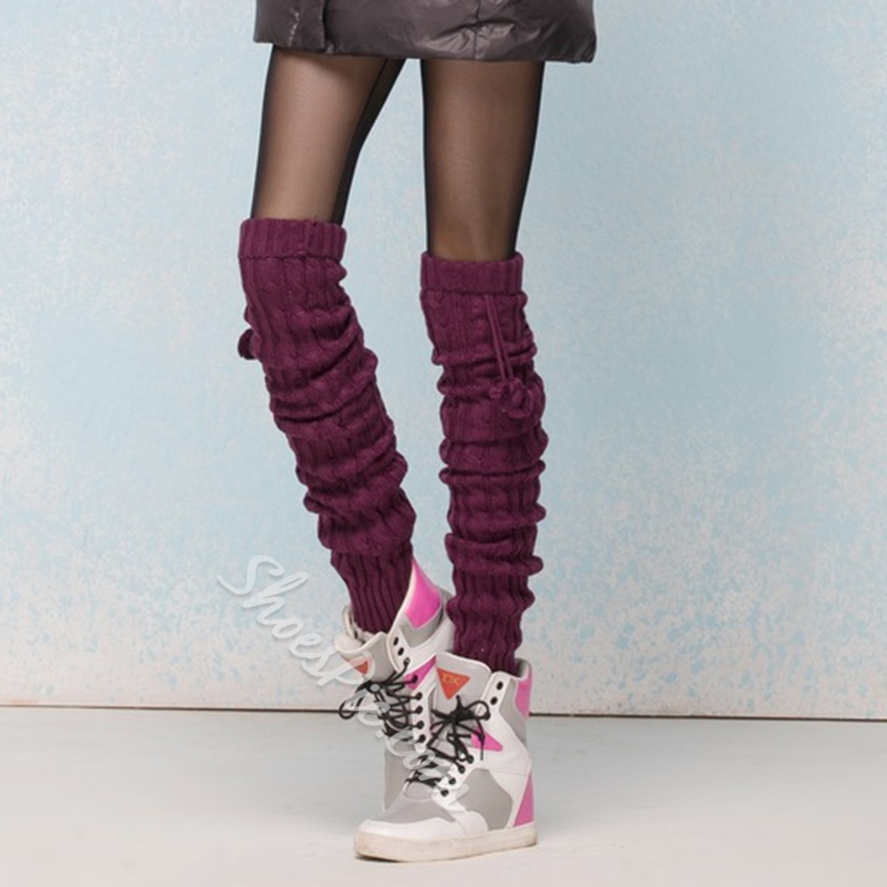 Warmly Colorful Over Knee High Socks