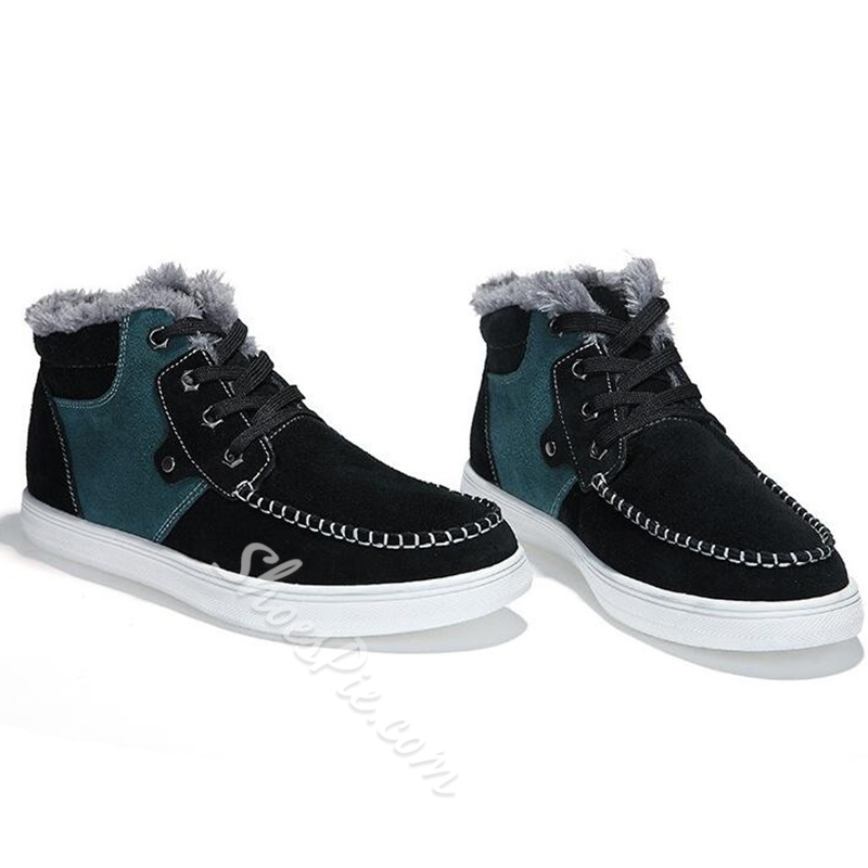 Shoespie Warm Color Block Men's Boots
