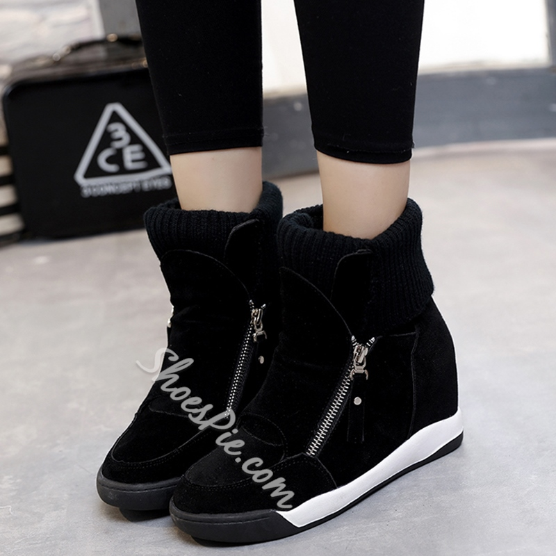 Shoespie Sporty Style Side Zipper Snow Boots