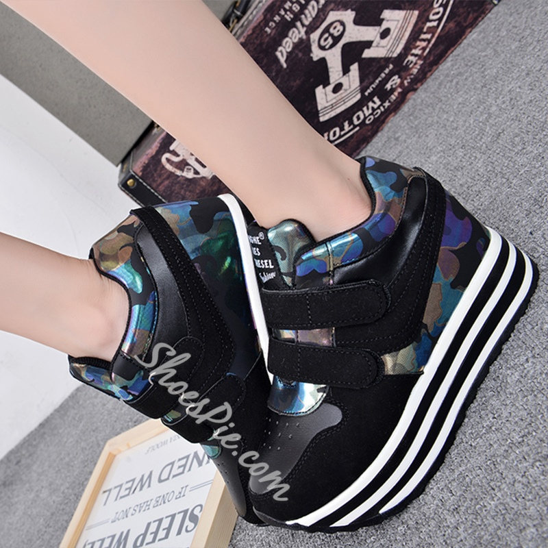 Shoespie Street Style Patchwork Sneakers