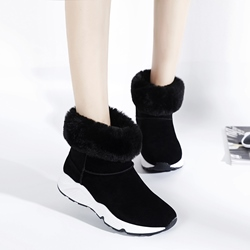 Shoespie Nubuck Sporty Style Snow Boots