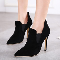 Shoespie Chic Black Pointed Toe Fashion Booties