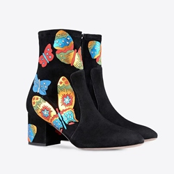 Shoespie Colorful Butterfly Print Fashion Booties