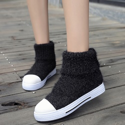 Shoespie Round Toe Woolen Booties