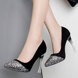 Shoespie Sequined Color Patchwork Stiletto Heel Prom Shoes