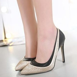 Shoespie Classy Patchwork Prom Shoes