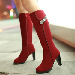 Shoespie Chic Round Toe Wid Calf Riding Boots