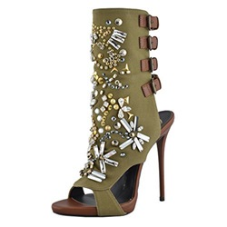 Shoespie Exquisite Beading Bootie Sandals