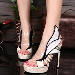 Shoespie Cute Multi Color Platform Sandals