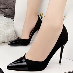 Shoespie Cap Toe Chic Stiletto Heels