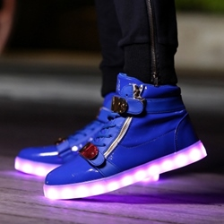 Shoespie Multi Color Luminous Outsole Men's Skate Shoes