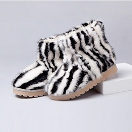 Shoespie Two Tone Warm in Cold Weather Shearling Snow Boots