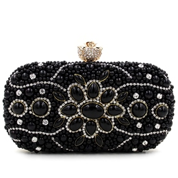 Shoespie Luxurious Jewelled Banquet Clutch Bag