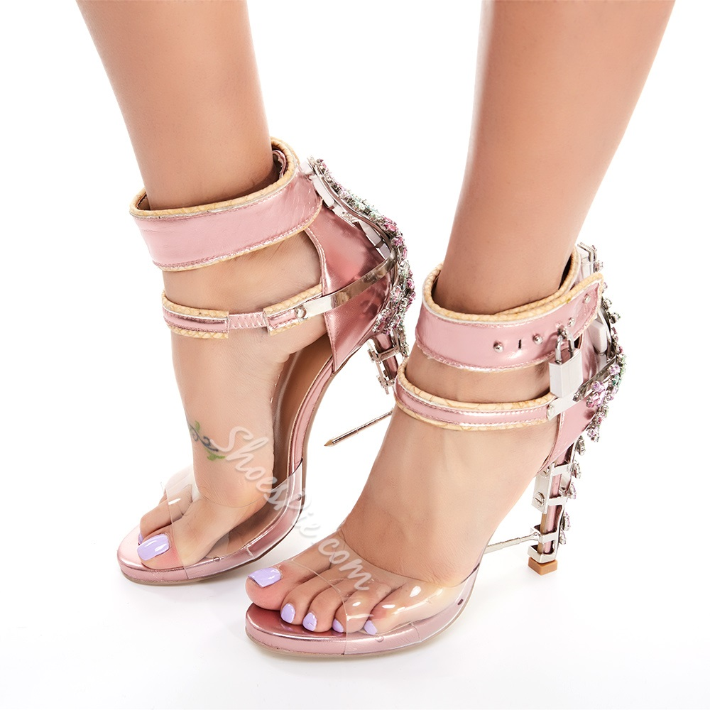 Shoespie Rhinestones and Metals Designer Sandals