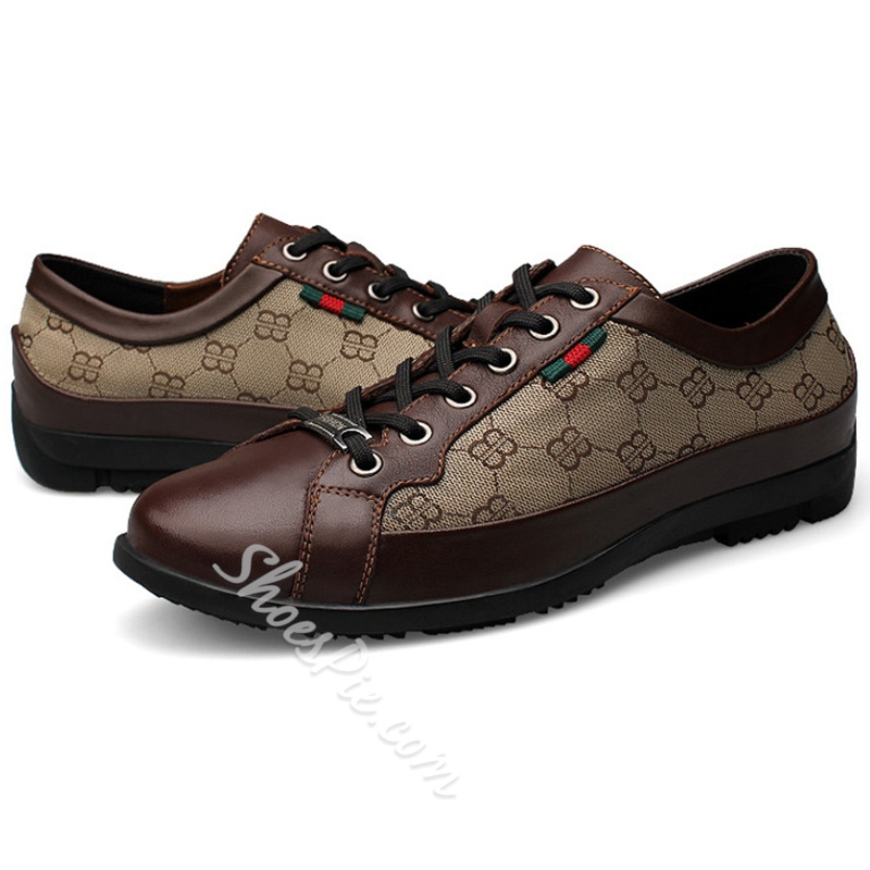 Shoespie Cute Patterns Business Casual Men' s Shoes