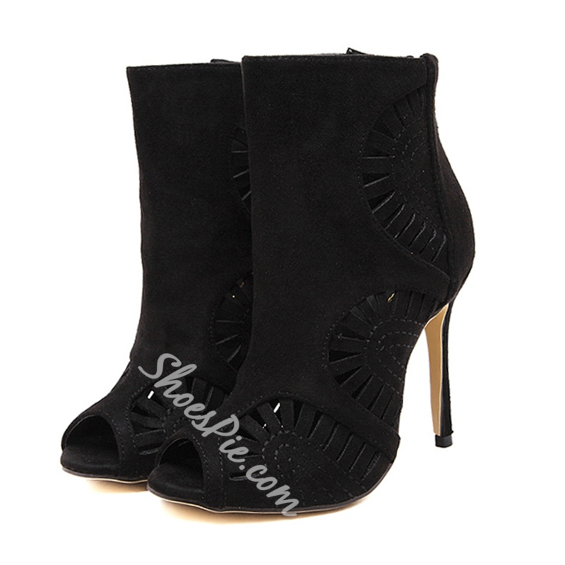 Shoespie Fashion Cut Out Open Toe Fashion Boots