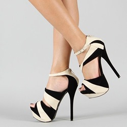 Shoespie Duo Tone Platform Sandals