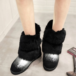 Shoespie Warm in Cold Furry Snow Boots