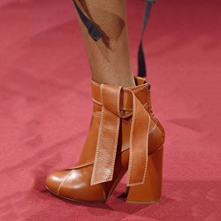 Shoespie Chic Blown Knot Chunky Heel Ankle Boots