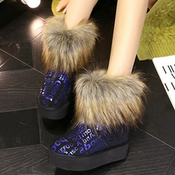Shoespie Gorgeous Round Toe Warm Furry Snow Boots