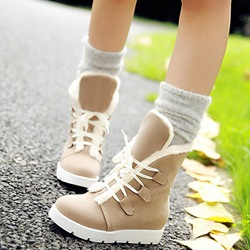 Shoespie Warm in Winter Shearling Flat Boots