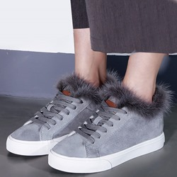 Shoespie Warm Purfle Fur Sneakers