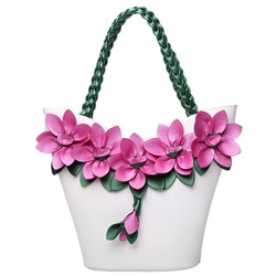 Shoespie Sunshine Flower Appliqued Shoulder Bag